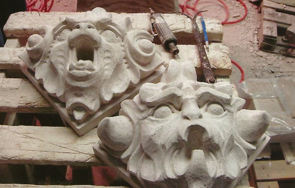 Bellini gargoyles old world stone carving