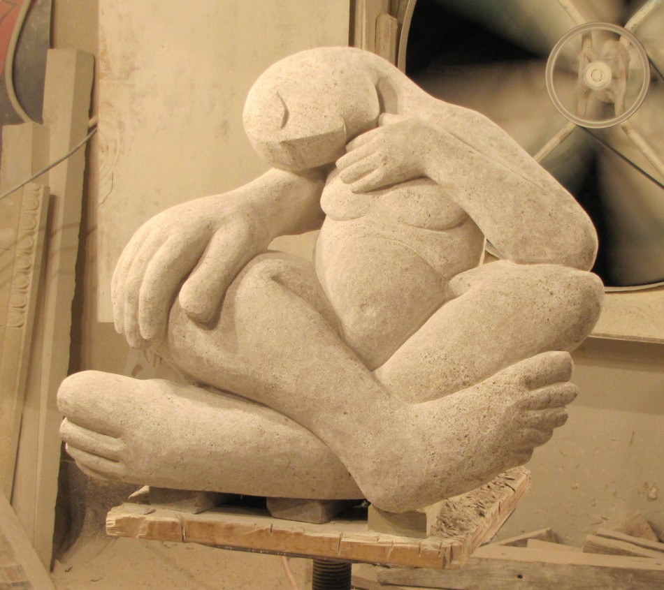 Sleeping beauty old world stone carving for Beauty stone fireplaces